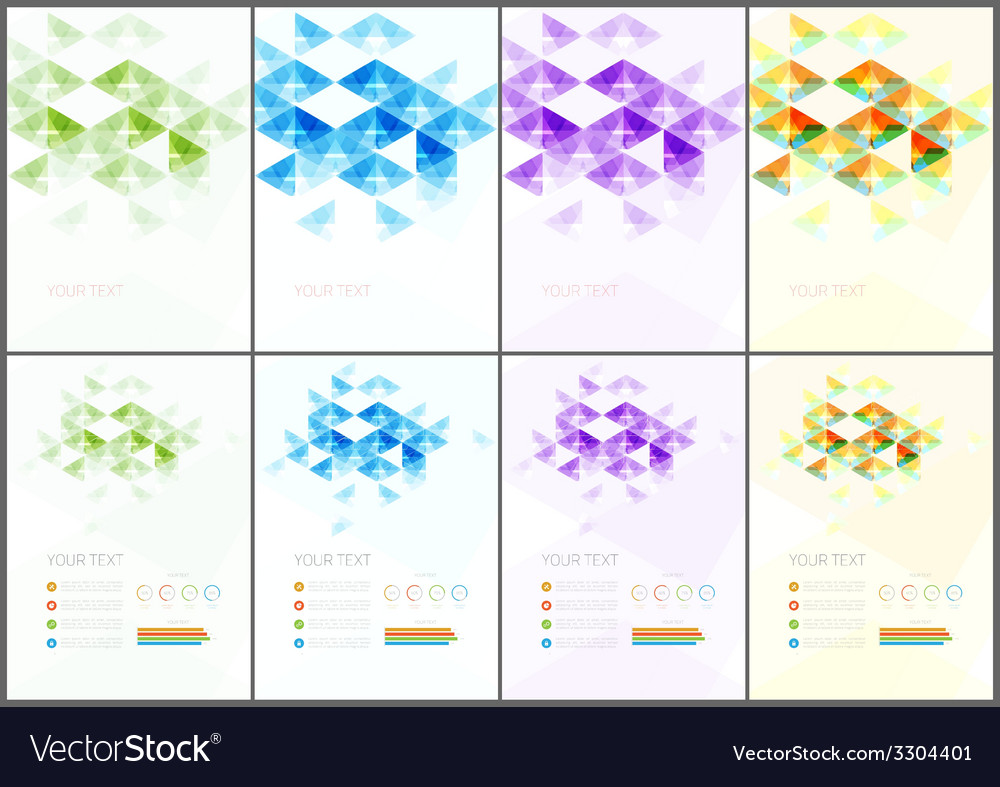 Abstract modern flyer vector | Price: 1 Credit (USD $1)