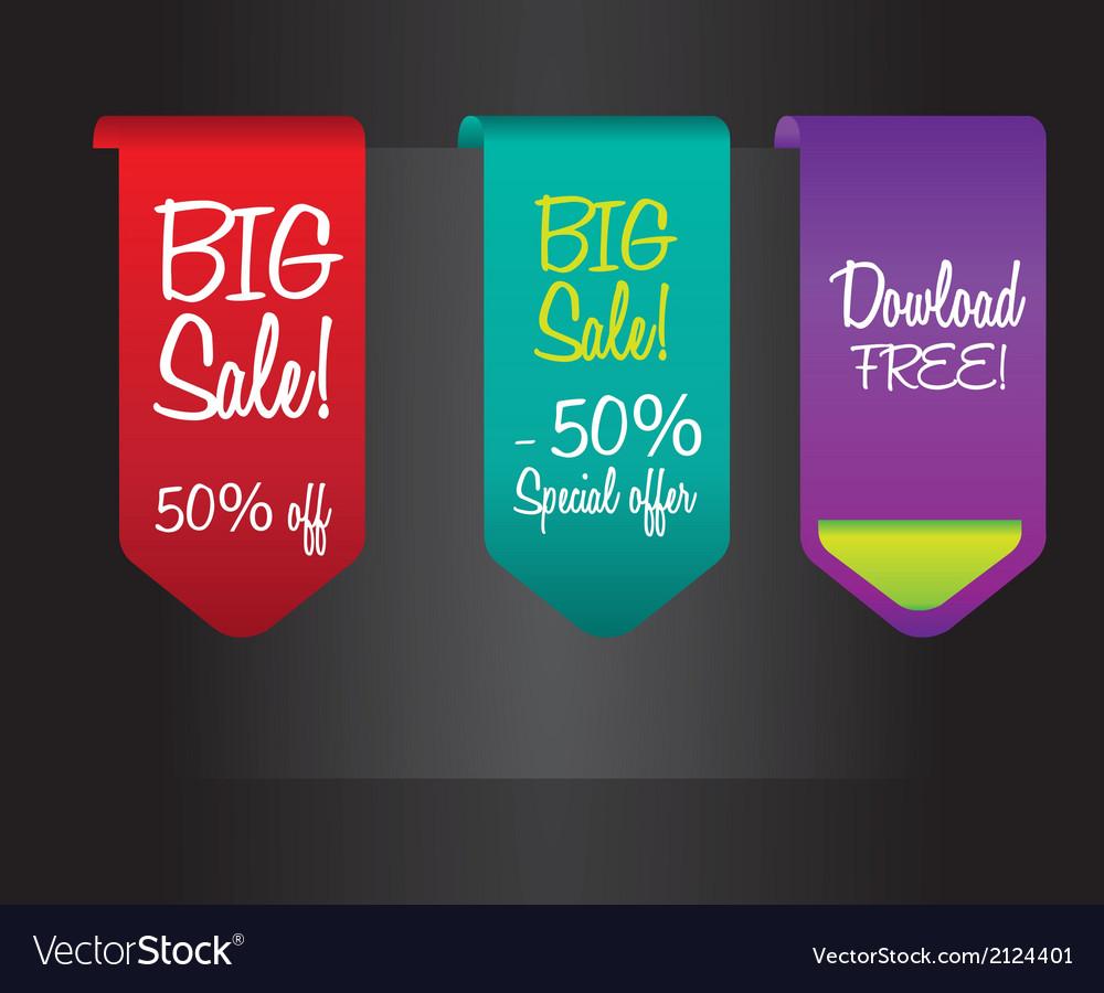 Big sale labels vector   Price: 1 Credit (USD $1)