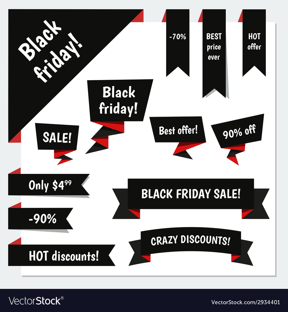 Black friday sale elements vector | Price: 1 Credit (USD $1)