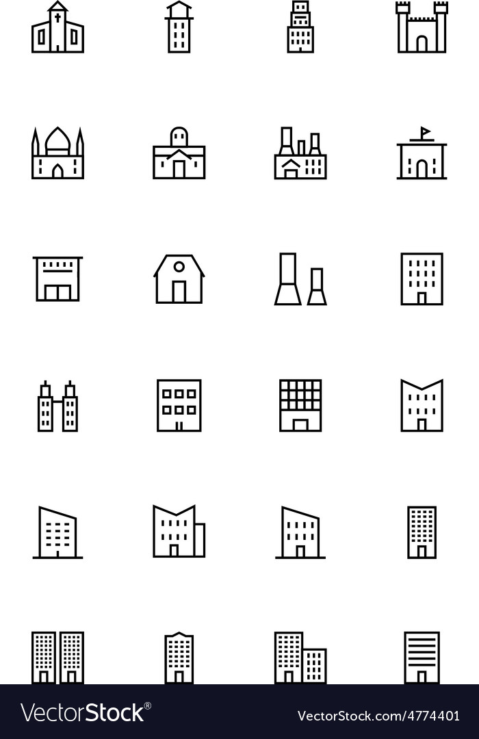 Buildings and furniture 2 vector | Price: 1 Credit (USD $1)