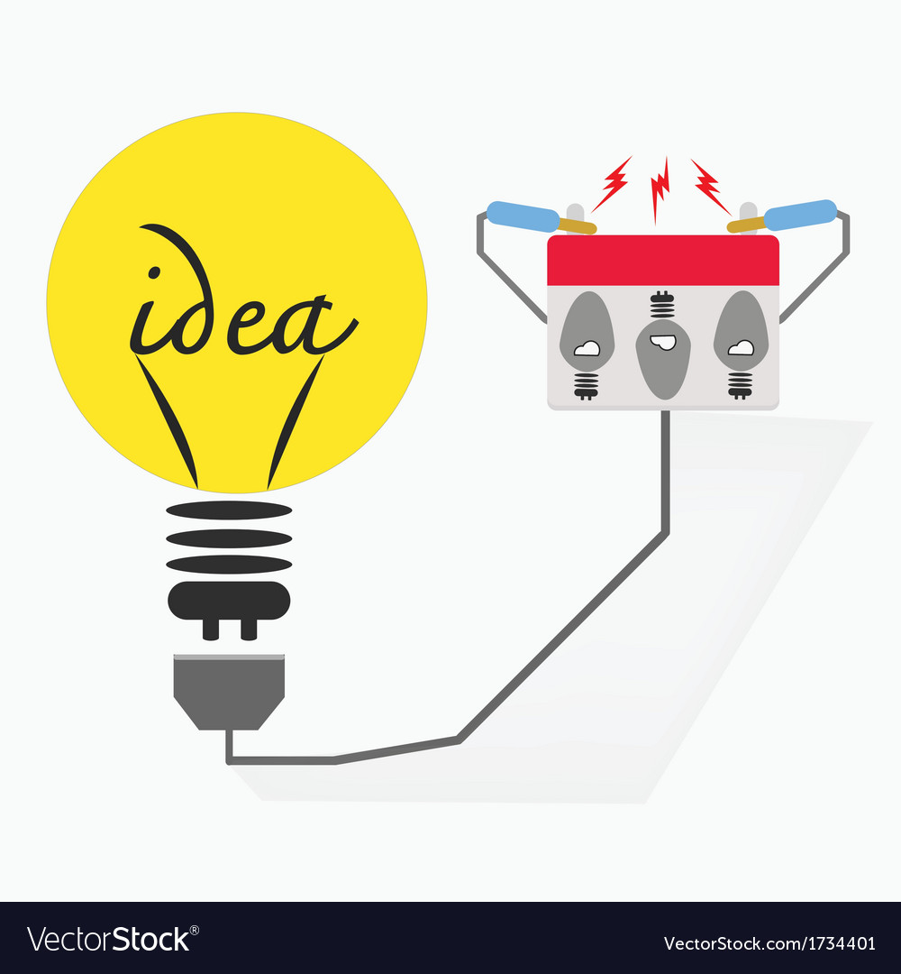 Bulb electricideas concept vector | Price: 1 Credit (USD $1)