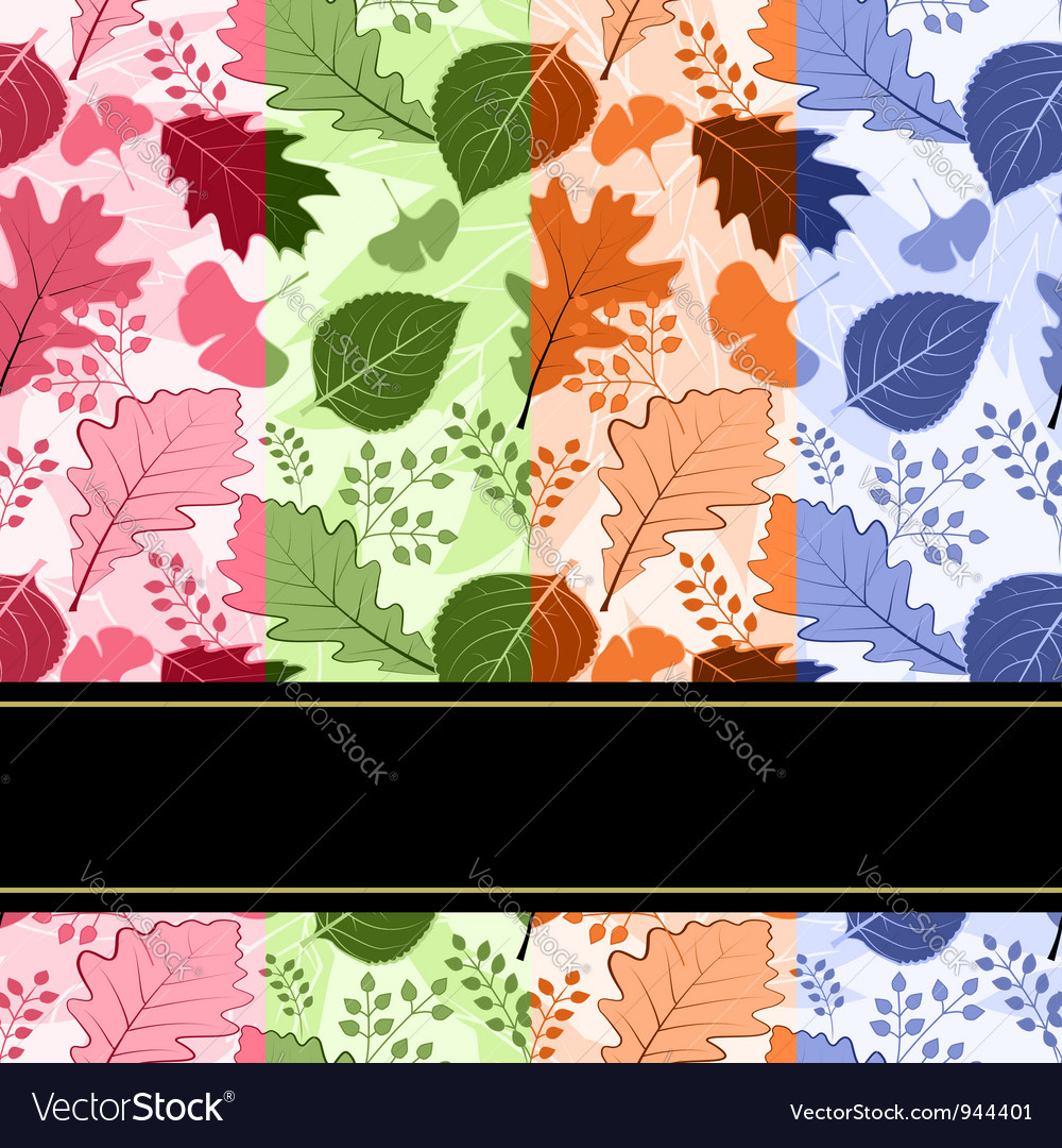 Colorful four season leaves vector | Price: 1 Credit (USD $1)