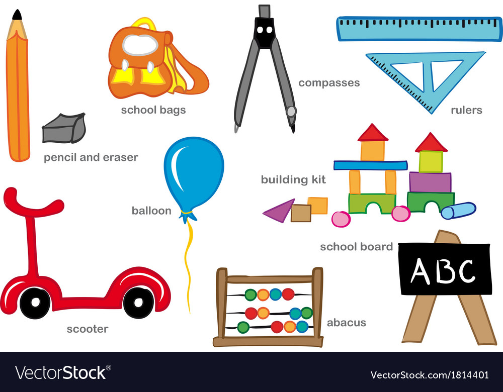 Kindergarten toys vector | Price: 1 Credit (USD $1)