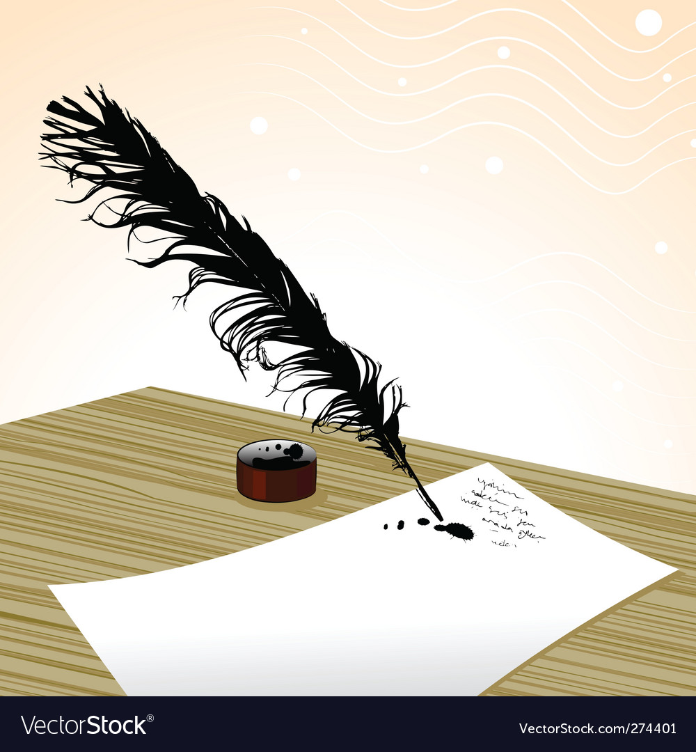 Plume pen vector | Price: 1 Credit (USD $1)