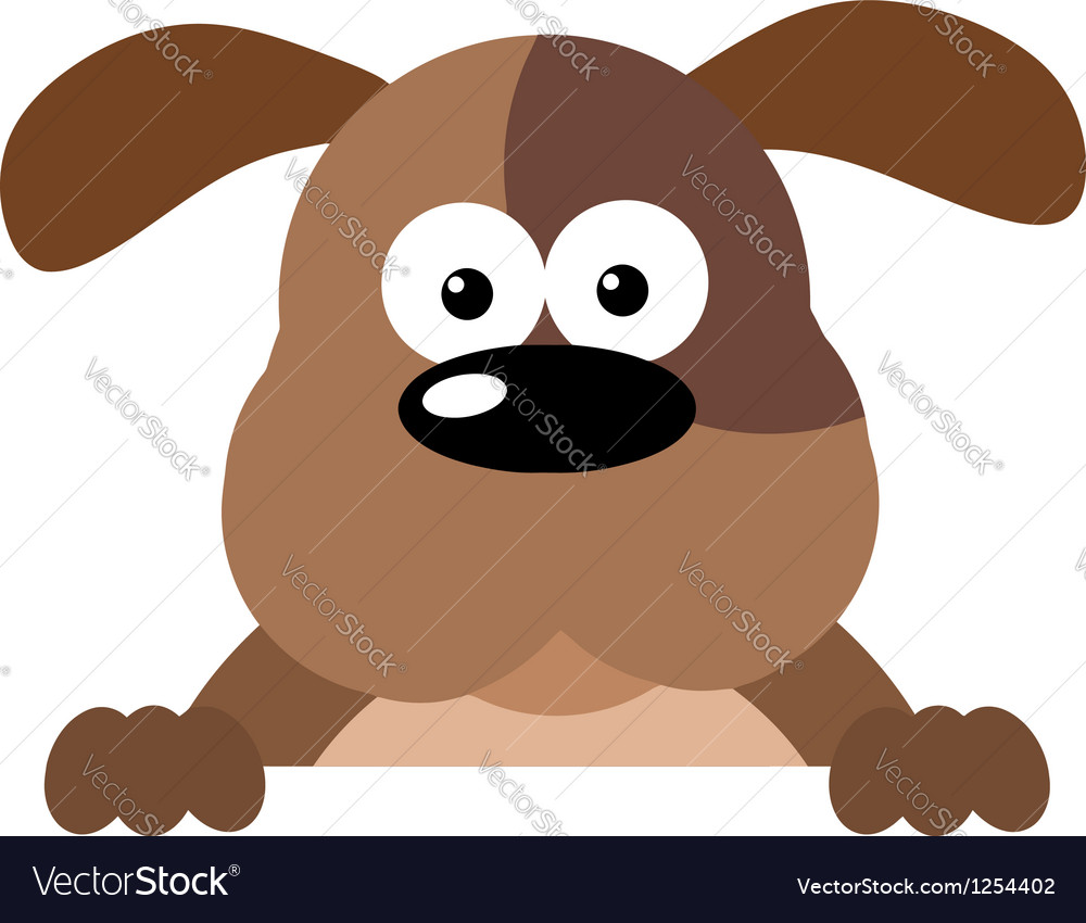 Cartoon dog over a sign vector | Price: 1 Credit (USD $1)