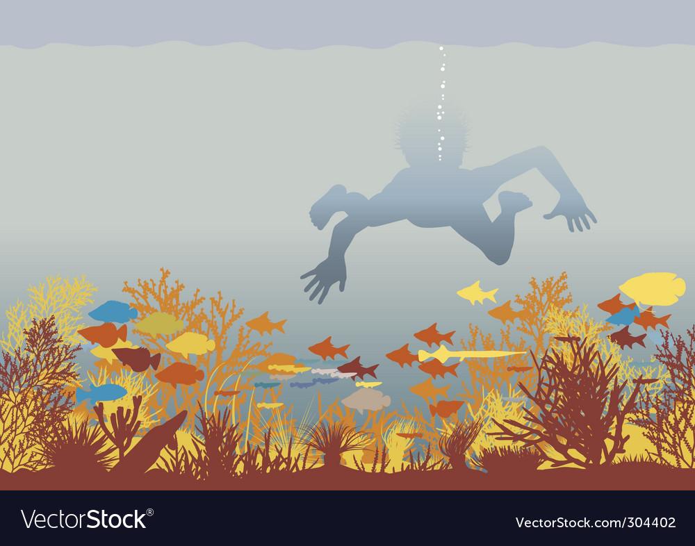 Coral boy vector | Price: 1 Credit (USD $1)