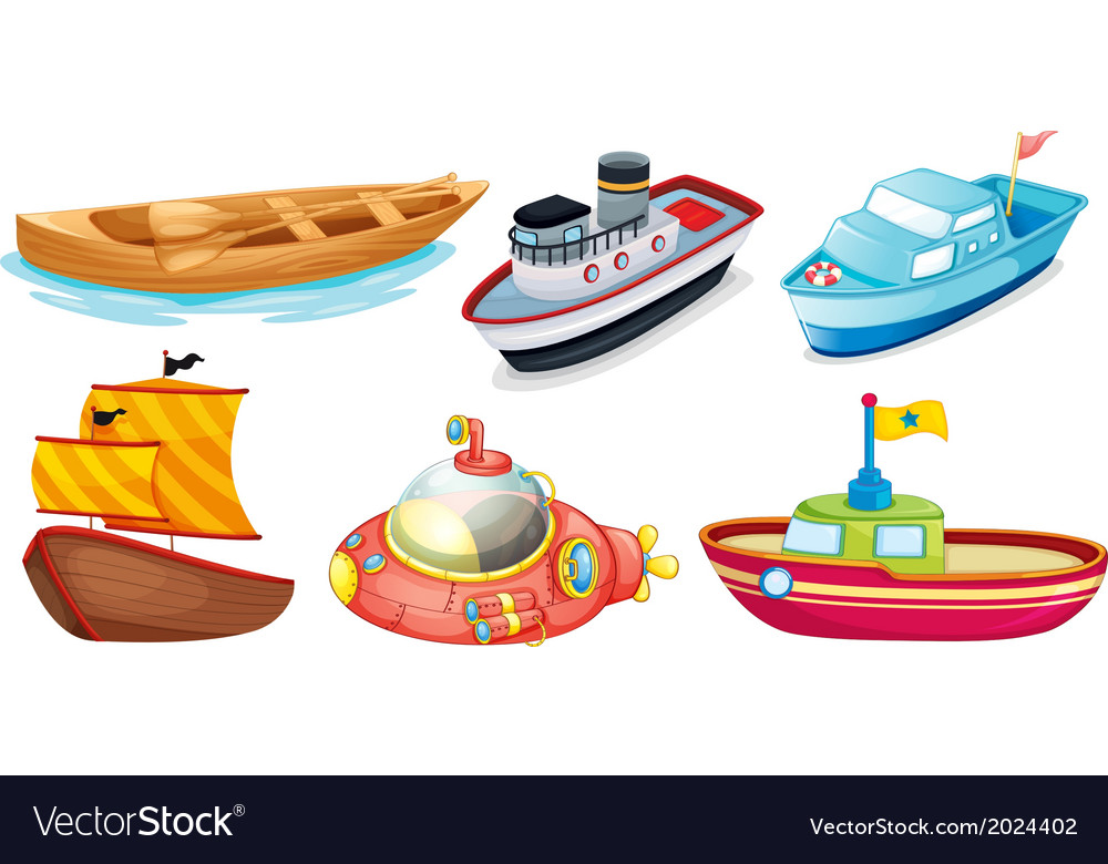 Different boat designs vector | Price: 1 Credit (USD $1)