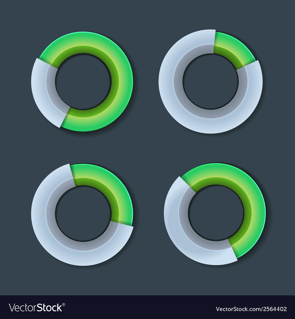 Infographic chart ring diagram set vector | Price: 1 Credit (USD $1)