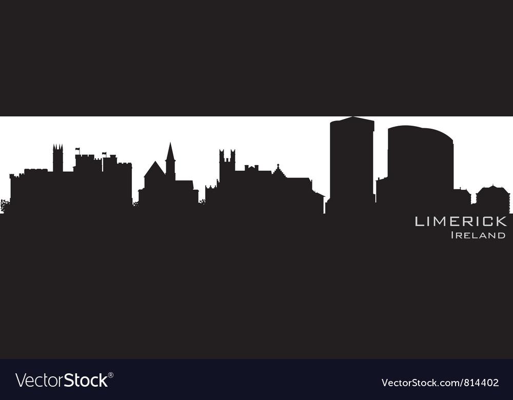 Limerick ireland skyline detailed silhouette vector   Price: 1 Credit (USD $1)