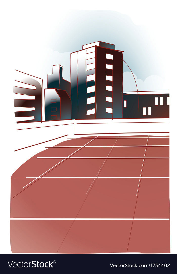 Modern office building vector | Price: 1 Credit (USD $1)