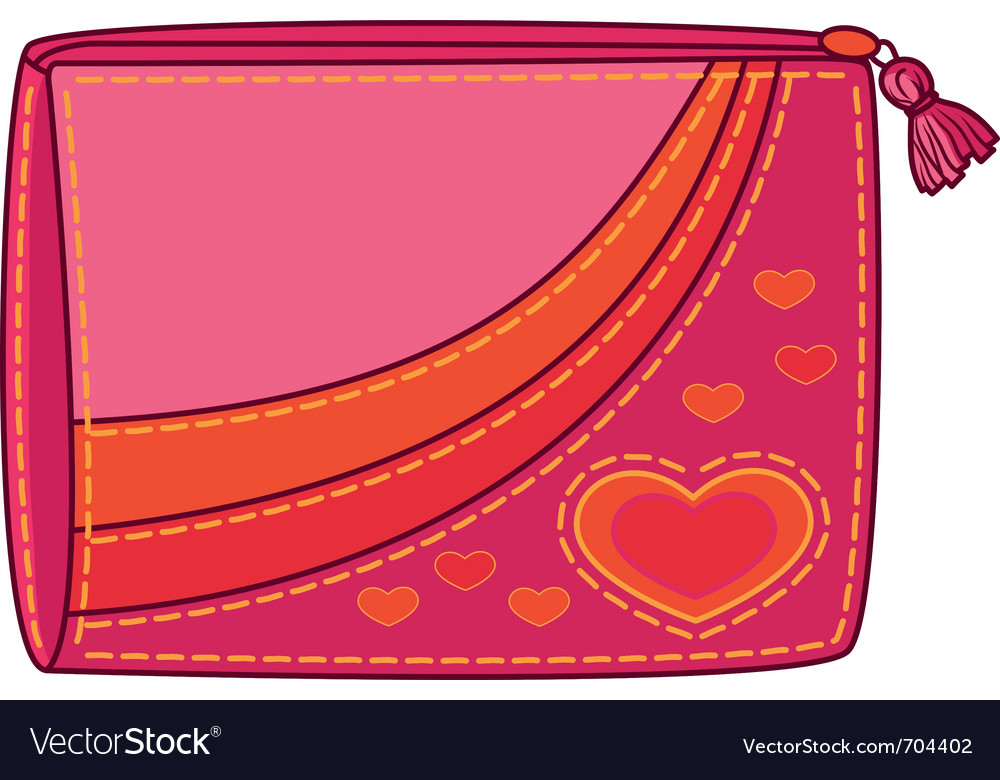 Purse with valentine hearts vector   Price: 1 Credit (USD $1)