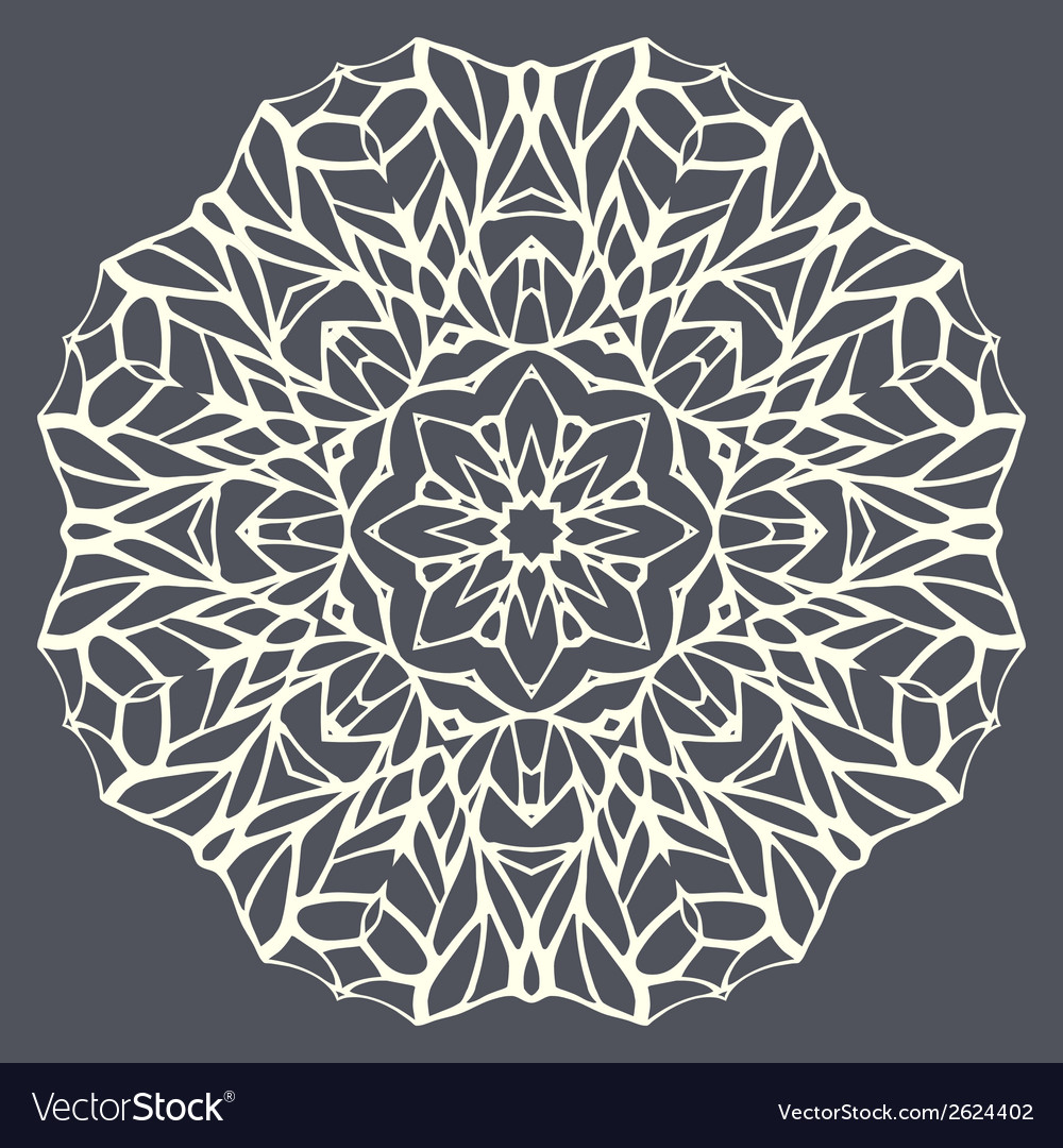 Round mandala kaleidoscopic lace ornamental vector | Price: 1 Credit (USD $1)