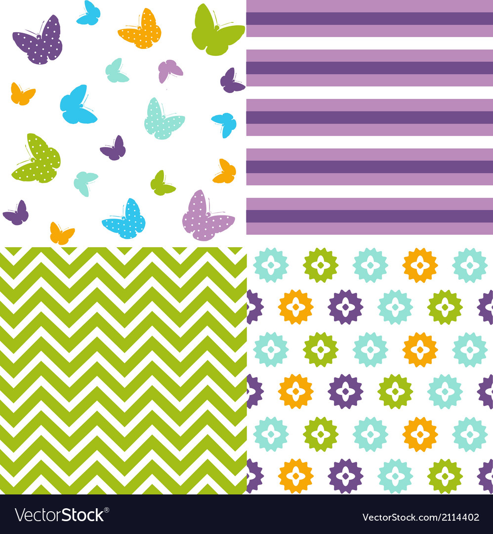 Seamless pattern easter set vector | Price: 1 Credit (USD $1)