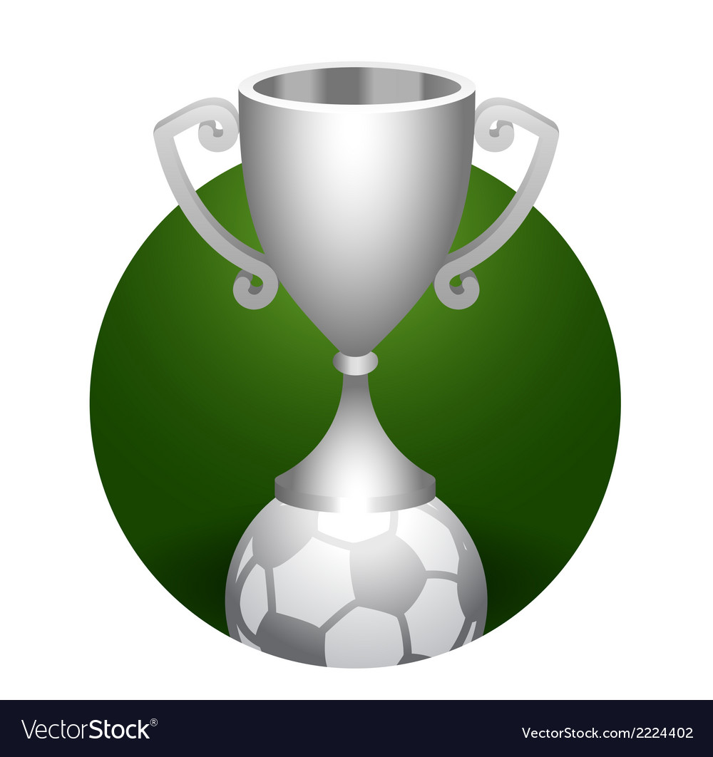 Soccer ball trophy silver cup vector | Price: 1 Credit (USD $1)