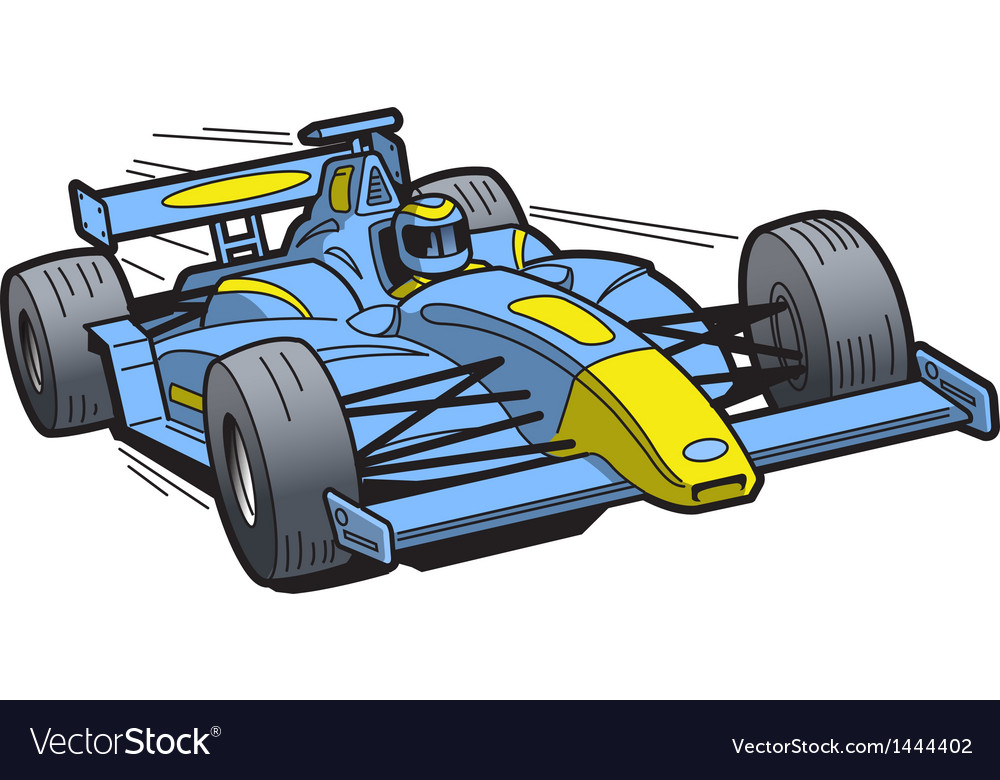 Speeding race car vector | Price: 1 Credit (USD $1)