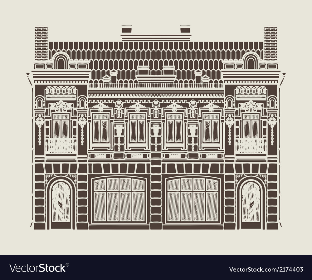 Baroque house vector | Price: 1 Credit (USD $1)