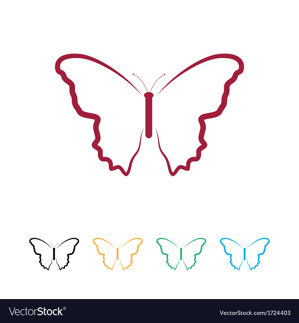 Butterfly logo vector | Price: 1 Credit (USD $1)