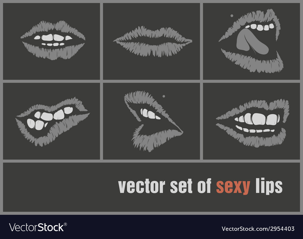Dark paper lips vector | Price: 1 Credit (USD $1)