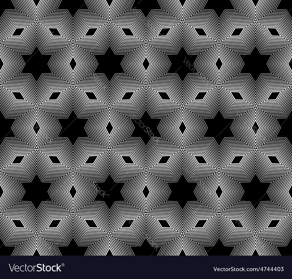 Design seamless monochrome star geometric pattern vector | Price: 1 Credit (USD $1)