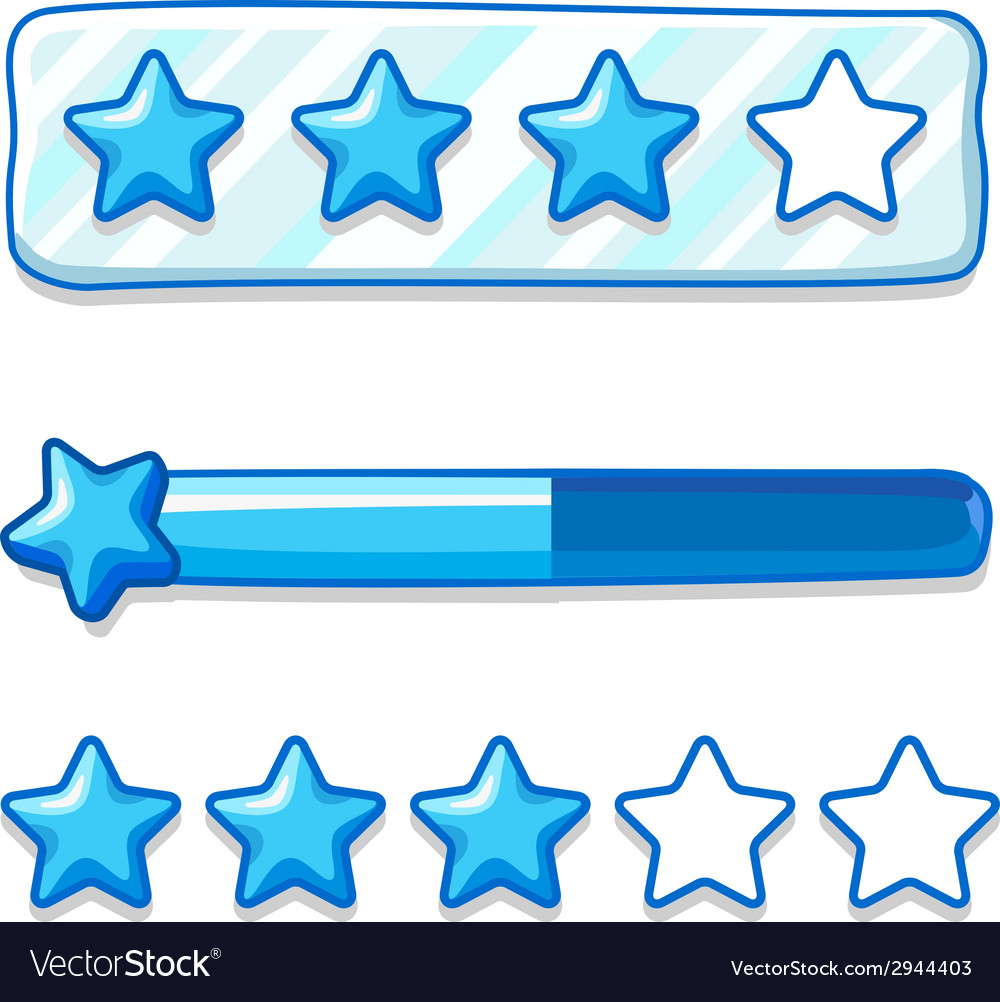 Game ice menu star progress bar vector   Price: 1 Credit (USD $1)