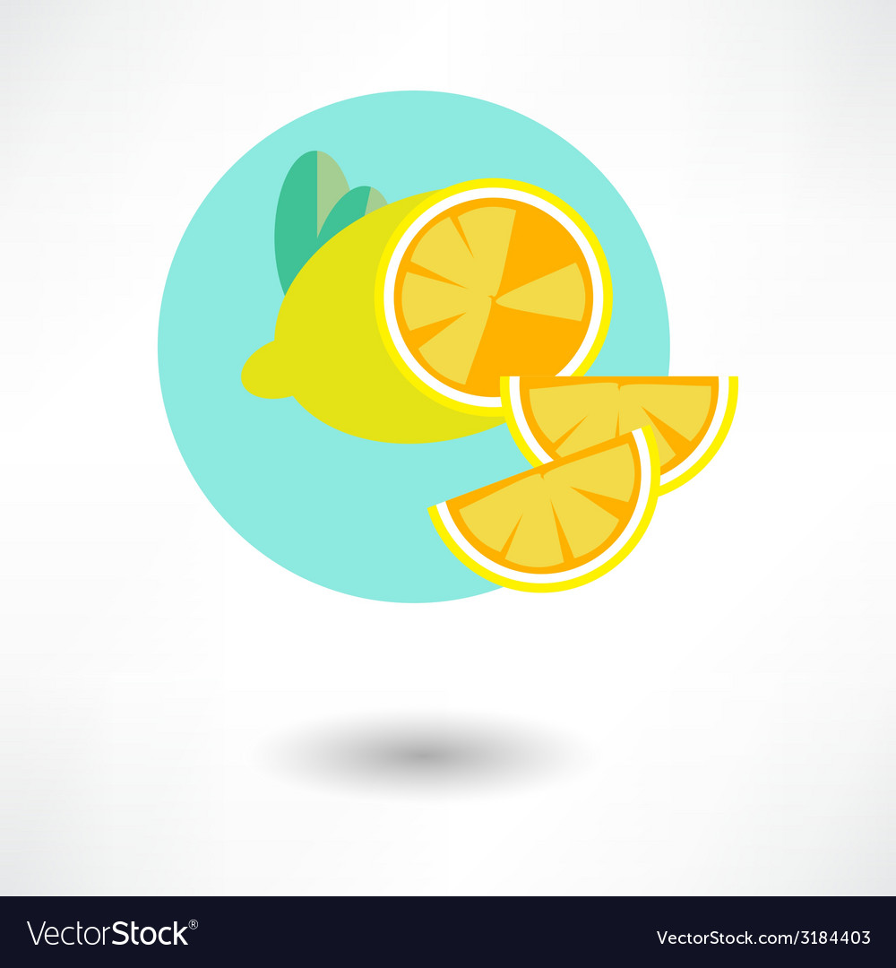 Lemon icon vector | Price: 1 Credit (USD $1)