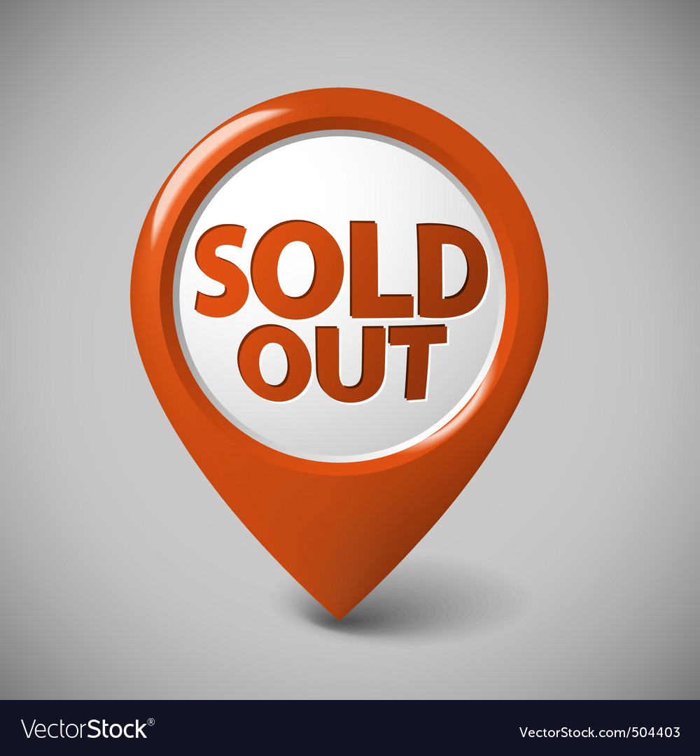 Round 3d pointer for a sold out item vector | Price: 1 Credit (USD $1)