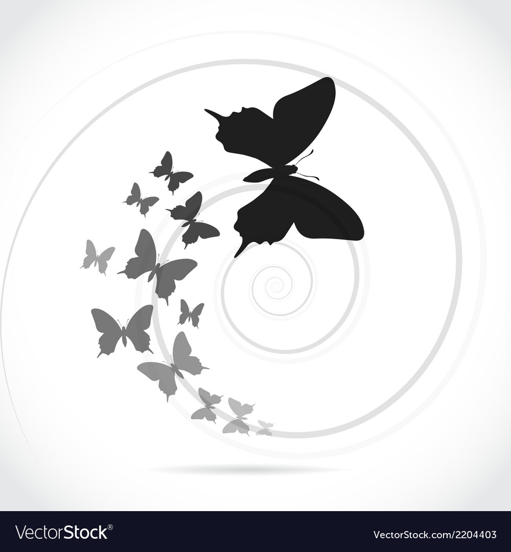 Silhouette butterflies vector | Price: 1 Credit (USD $1)