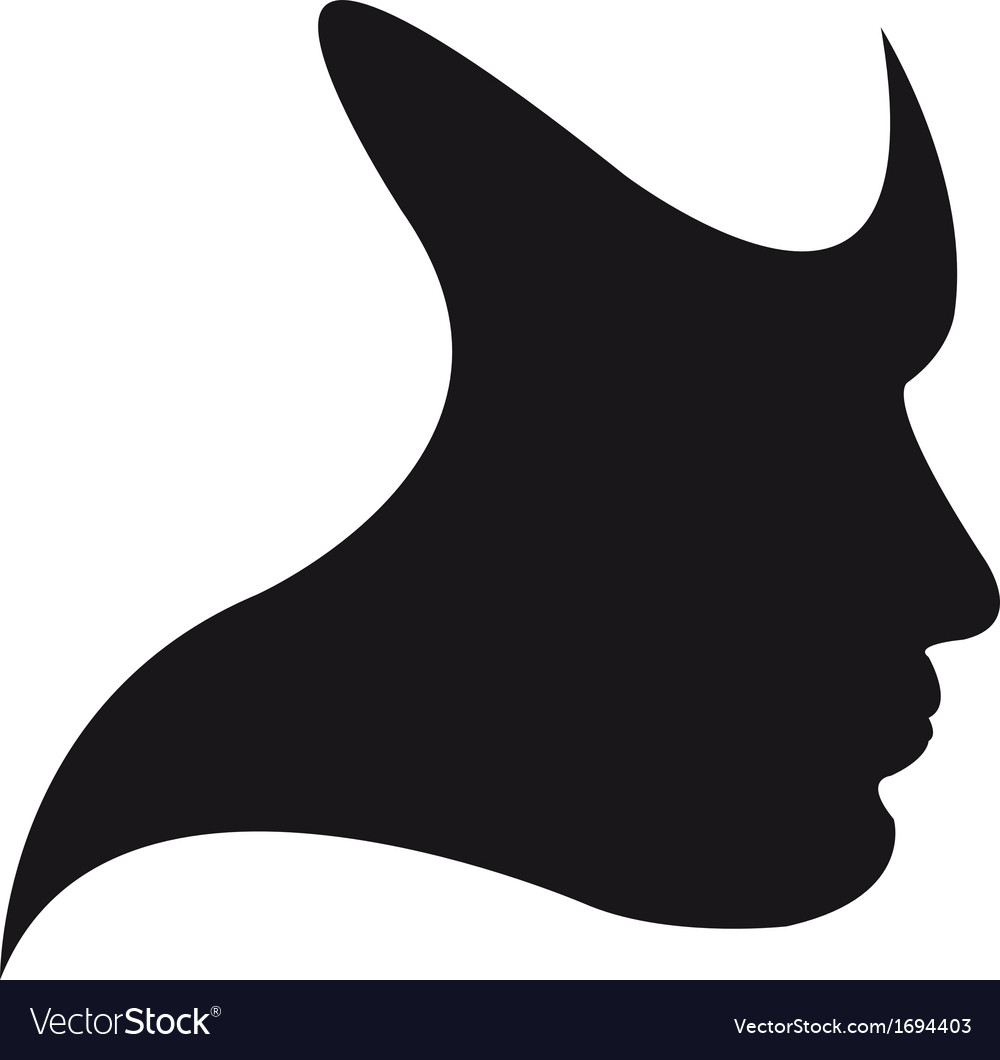 Silhouette face vector | Price: 1 Credit (USD $1)