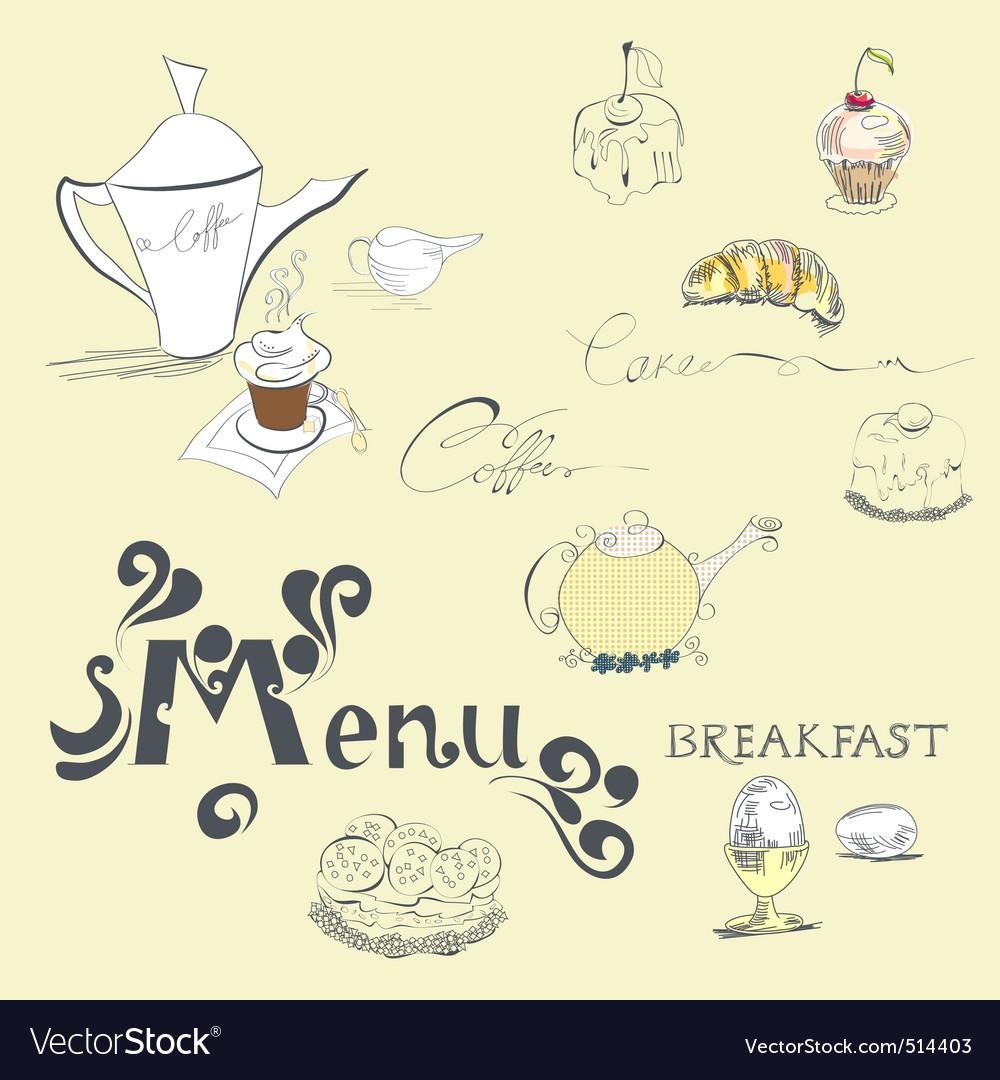 Template for menu vector | Price: 1 Credit (USD $1)