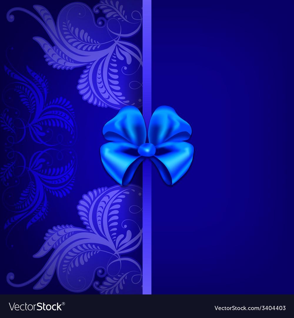 Vintage pattern on a dark blue background vector   Price: 1 Credit (USD $1)