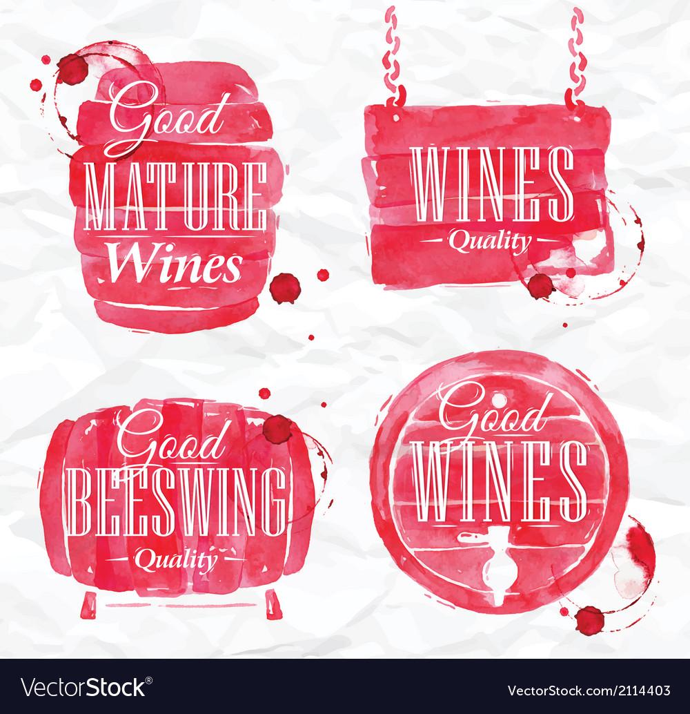 Watercolor wine cask vector | Price: 1 Credit (USD $1)