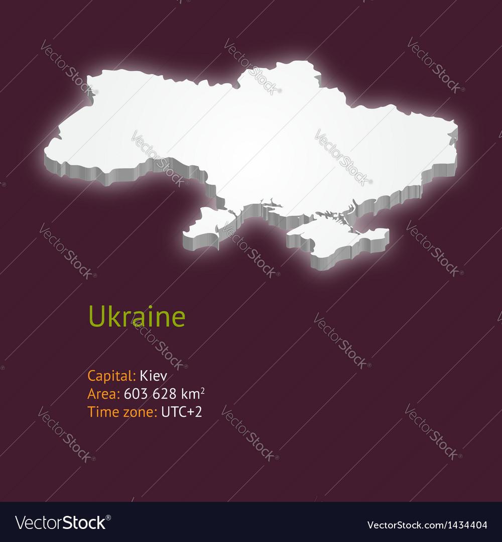 3d map of ukraine vector | Price: 1 Credit (USD $1)