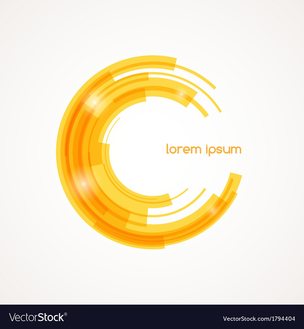 Abstract round element vector | Price: 1 Credit (USD $1)