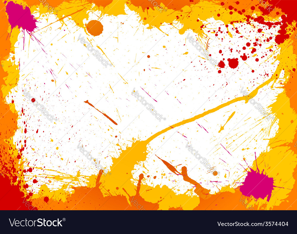 Colorful frame made of ink blots vector | Price: 1 Credit (USD $1)