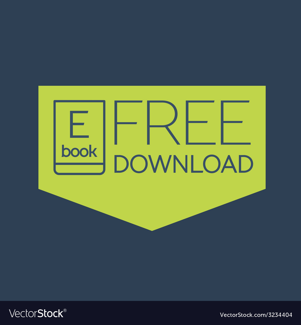 Flat ebook free download icon vector | Price: 1 Credit (USD $1)