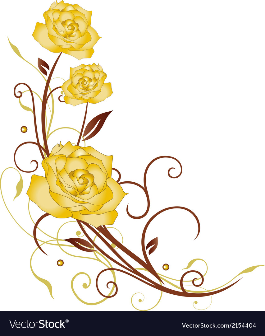 Flowers roses vector   Price: 1 Credit (USD $1)