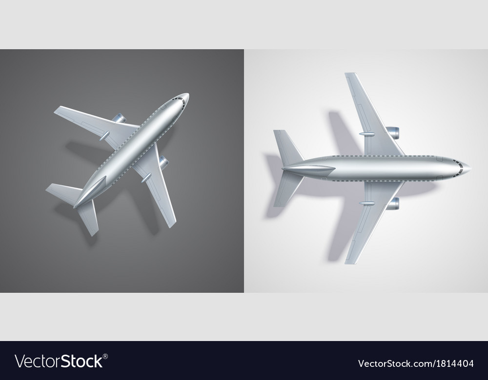 Flying airplane icons on black and white vector | Price: 1 Credit (USD $1)