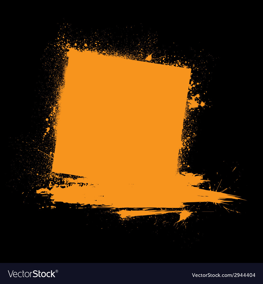 Grunge ink blots orange vector   Price: 1 Credit (USD $1)