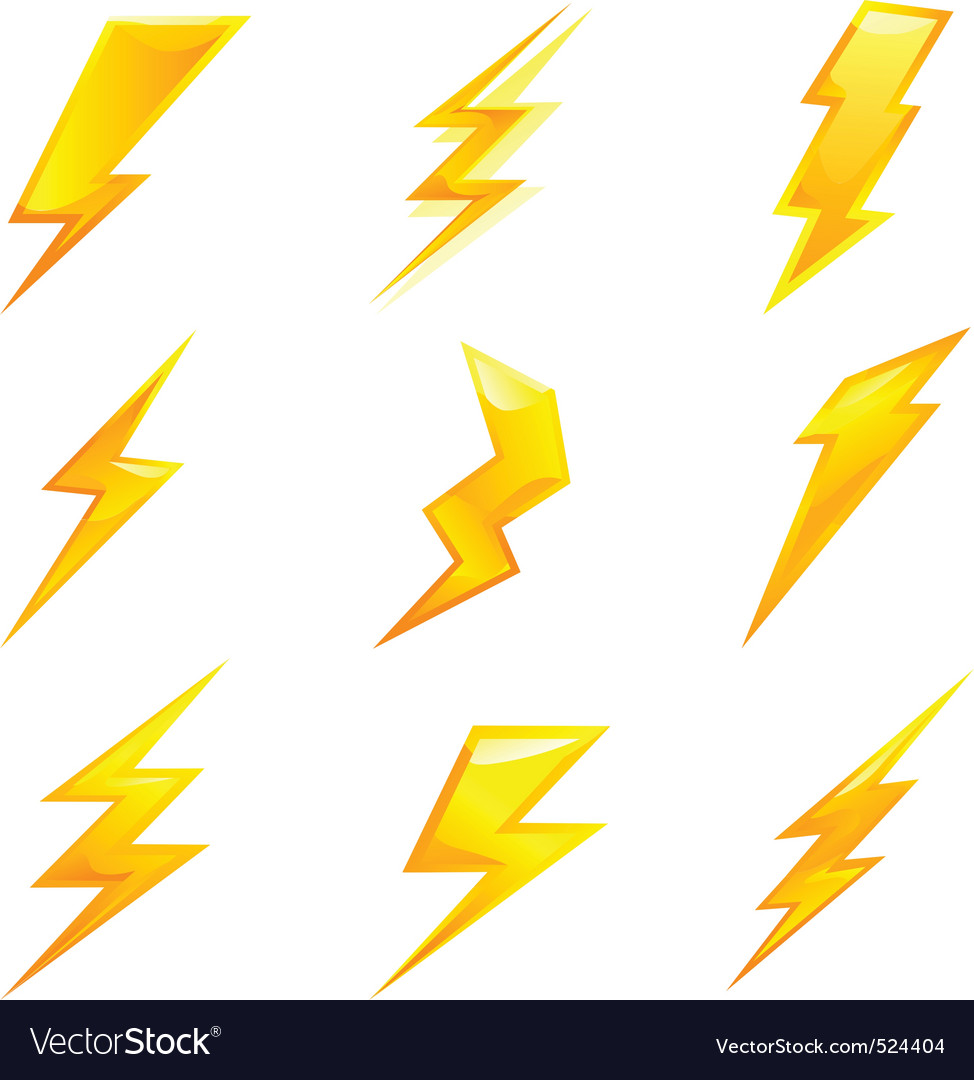 Lightning bolts vector | Price: 1 Credit (USD $1)