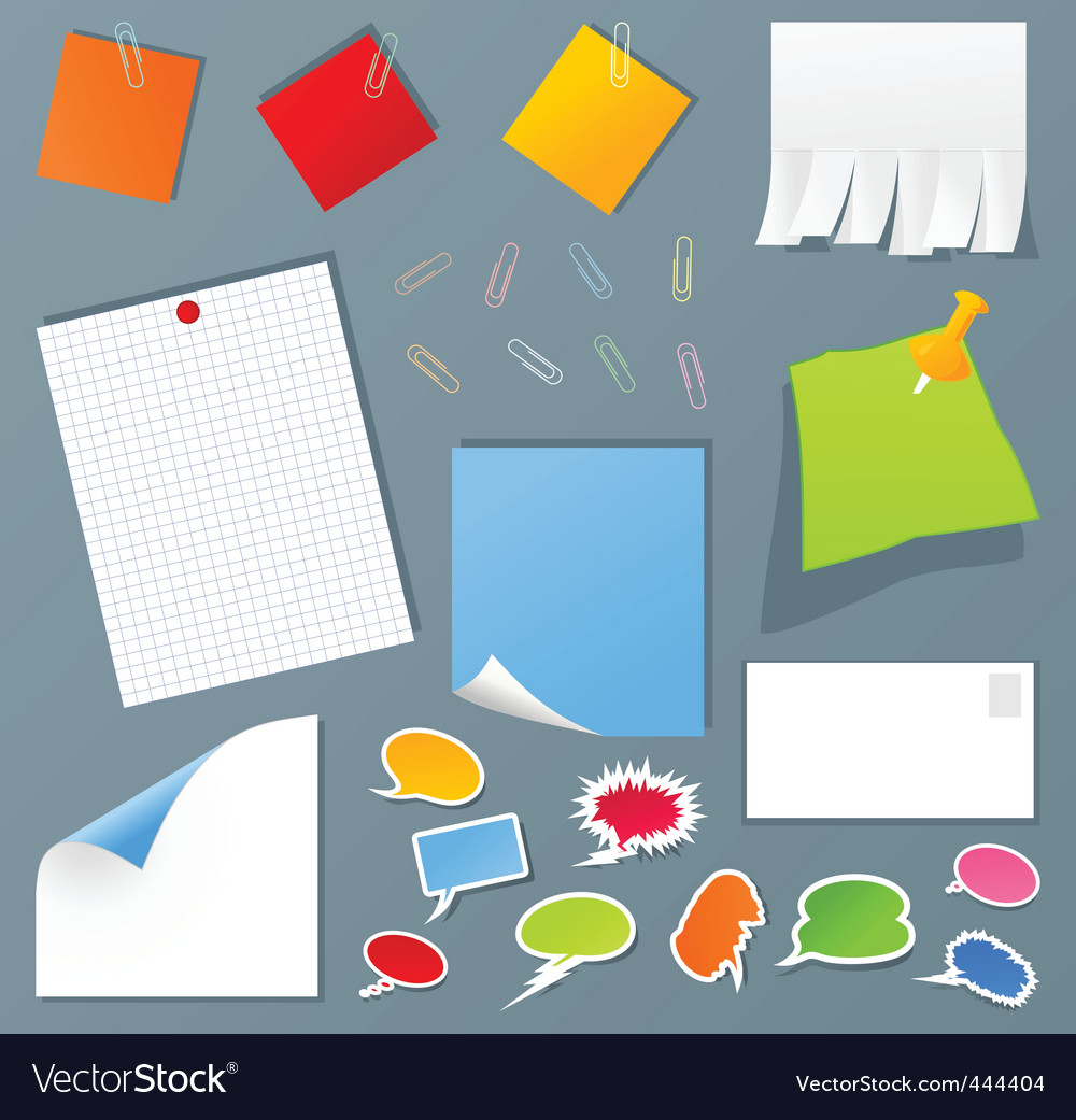 Office set vector | Price: 1 Credit (USD $1)