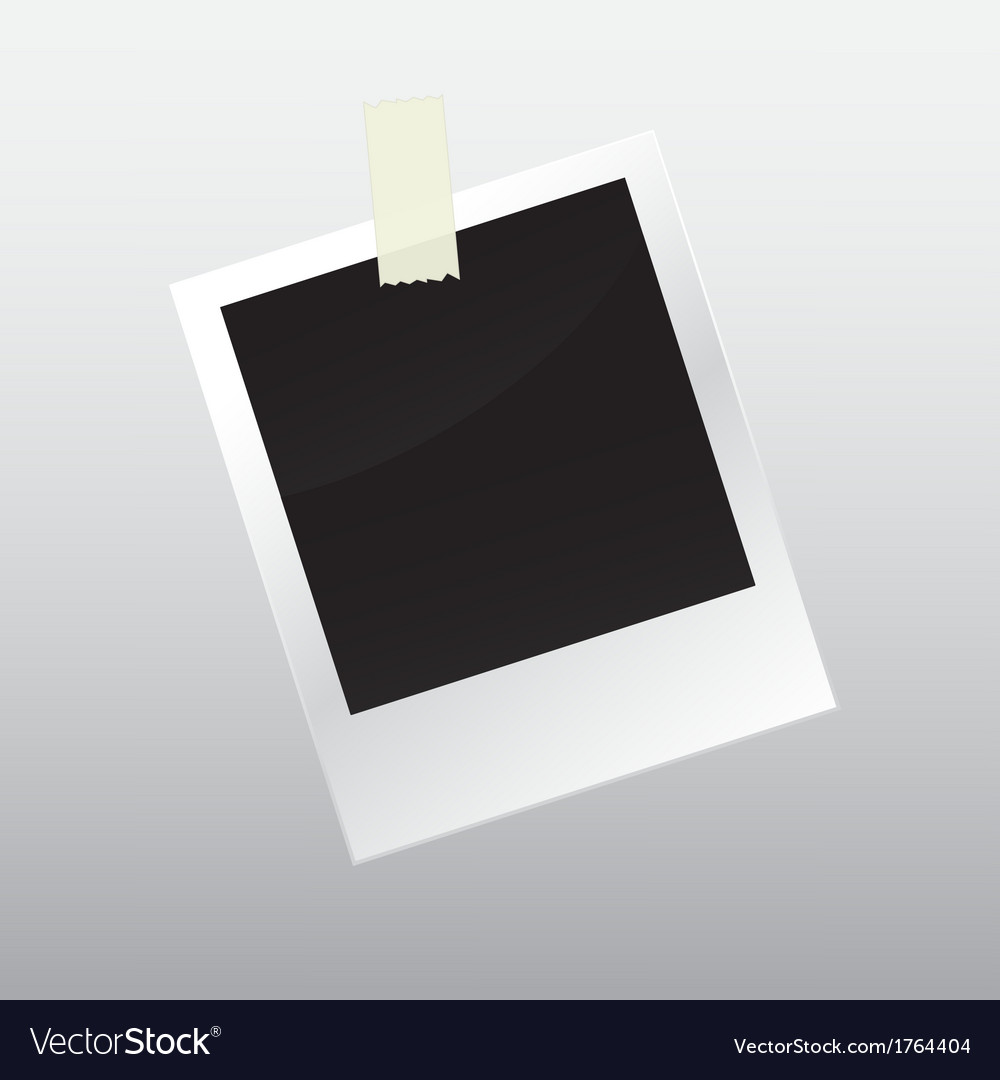 Photo frame with scotch tape vector | Price: 1 Credit (USD $1)
