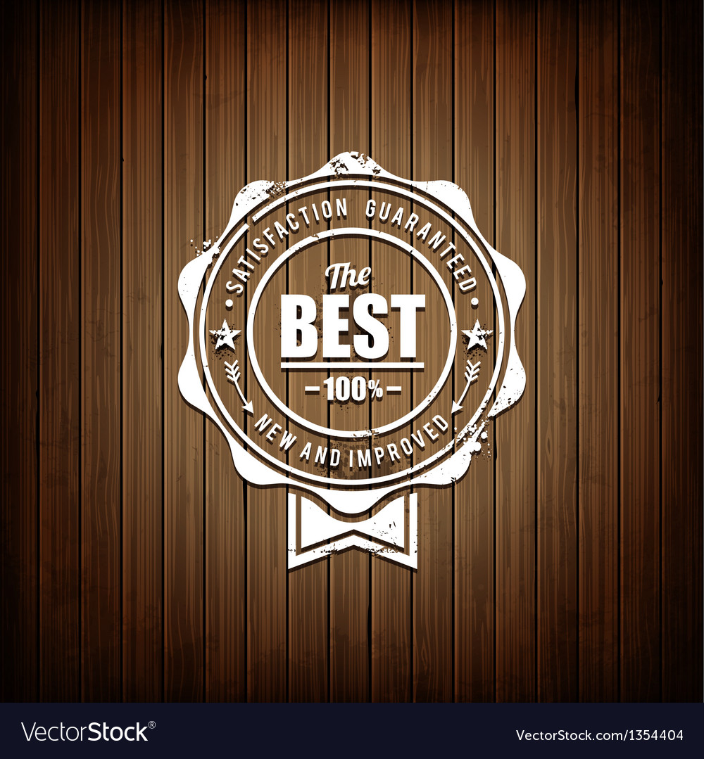 Premium seal wooden background vector | Price: 1 Credit (USD $1)