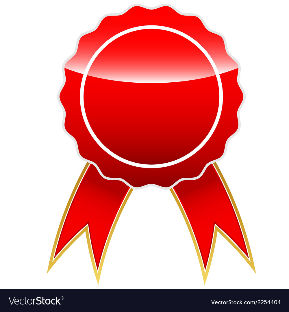 Red medal vector | Price: 1 Credit (USD $1)