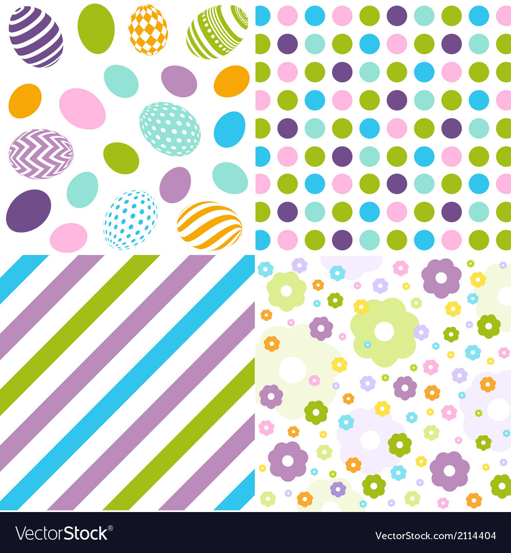 Seamless pattern easter set vector   Price: 1 Credit (USD $1)