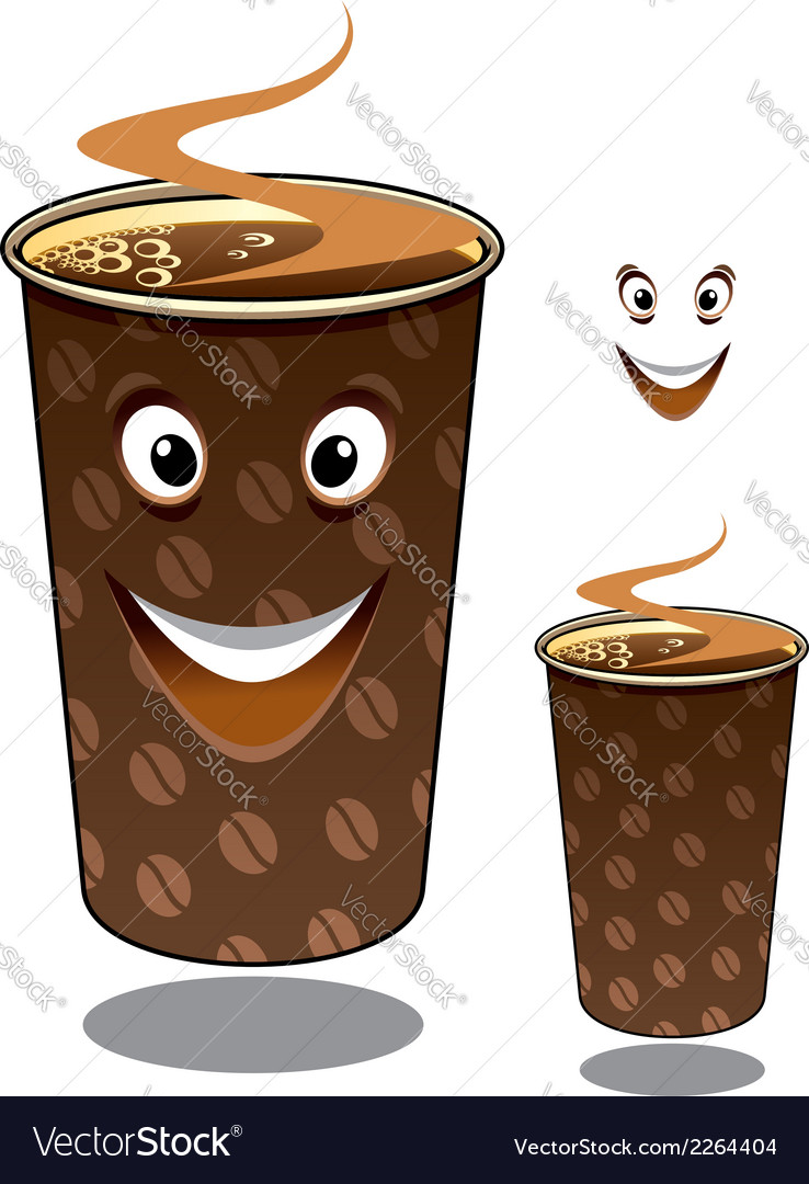 Two cartoon takeaway coffees vector | Price: 1 Credit (USD $1)