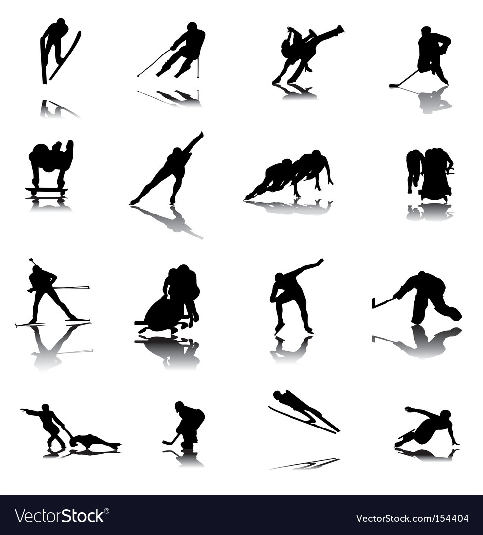 Winter sports vector | Price: 1 Credit (USD $1)