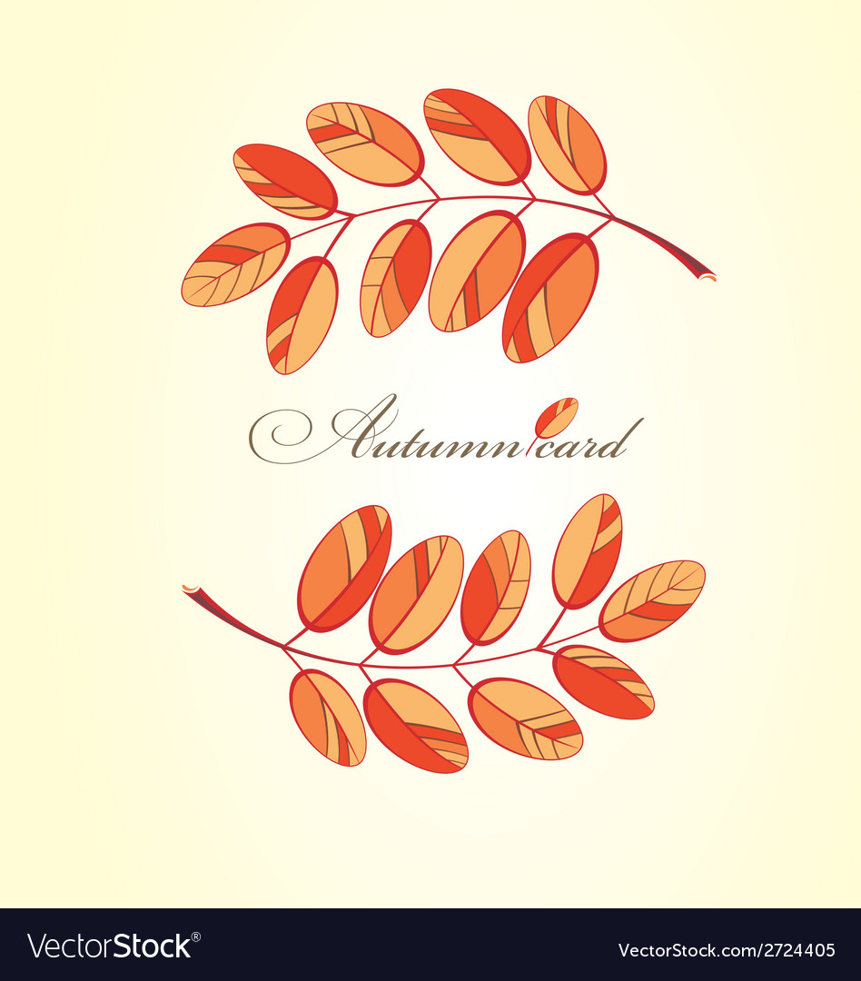 Autumn abstract floral background vector   Price: 1 Credit (USD $1)