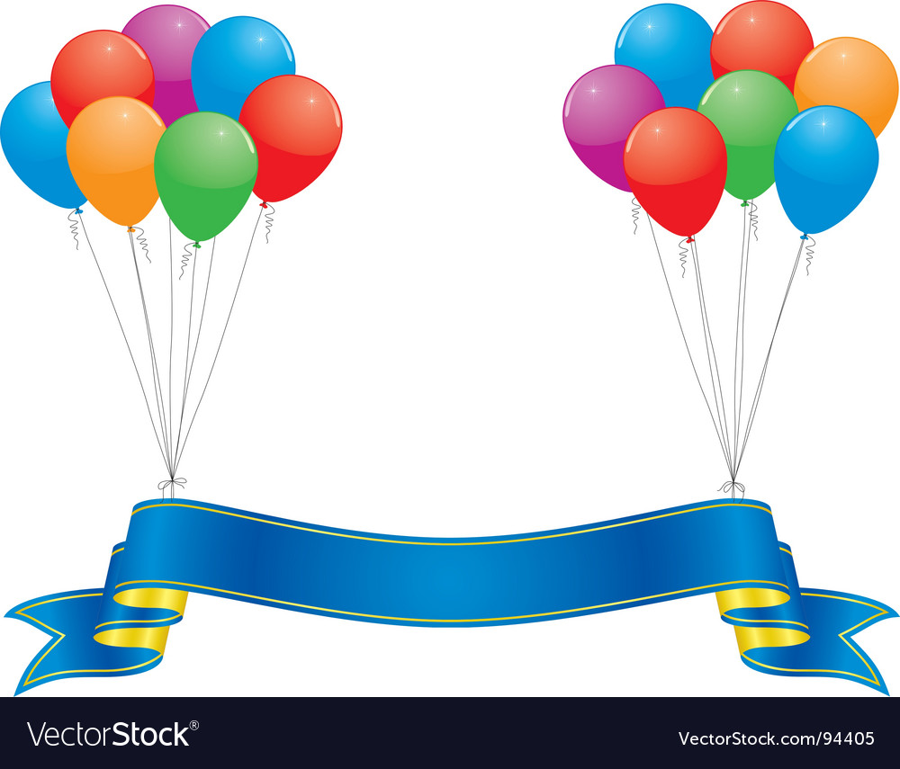 Celebration banner vector | Price: 1 Credit (USD $1)