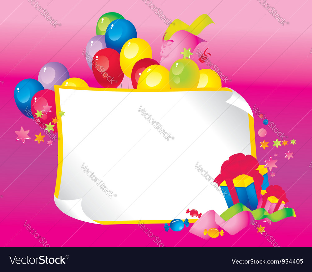 Celebration border vector | Price: 1 Credit (USD $1)