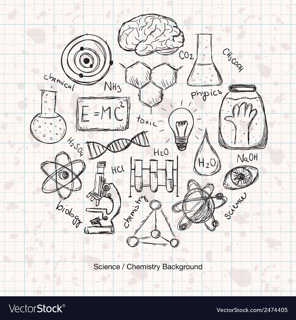 Chemistry science background vector | Price: 1 Credit (USD $1)